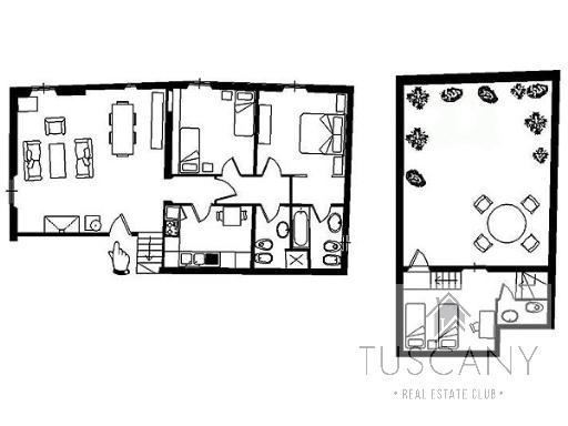 Attico / Mansarda in affitto a Firenze, 5 locali, zona Zona: 12 . Duomo, Oltrarno, Centro Storico, Santa Croce, S. Spirito, Giardino di Boboli, prezzo € 4.500 | Cambio Casa.it